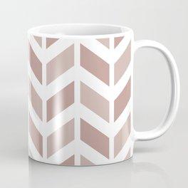Beige and white chevron pattern Coffee Mug