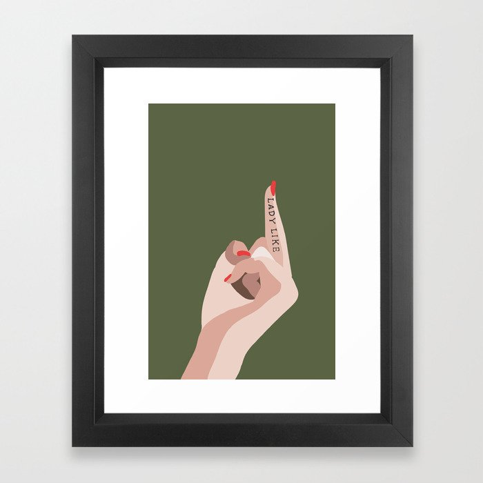 LADYLIKE Framed Art Print