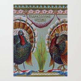 Thanksgiving Greetings 1906 Poster