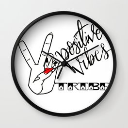 Positive Vibes Tribe Wall Clock