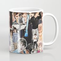 liam payne Mugs featuring Liam Payne - Collage by Pepe the frog
