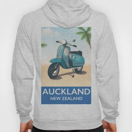 auckland new zealand travel poster Hoody