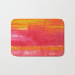 'Summer Day'  Orange Red Yellow Abstract Art Bath Mat