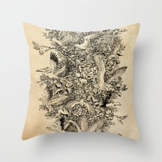 Blooming Flight Throw Pillow