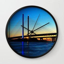 Indian River Inlet Bridge Wall Clock