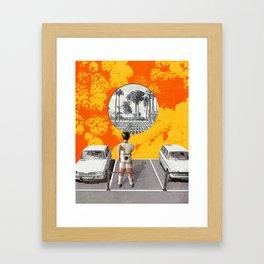 Le parking Framed Art Print