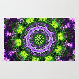 Mandala purple and green Rug