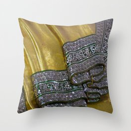 Robes of the Reclining Buddha Throw Pillow
