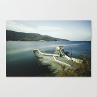 greek Canvas Prints featuring Greek landscape by MarioGuti