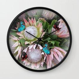 The King Protea Wall Clock