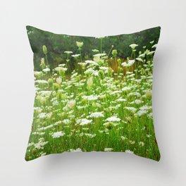 Spring Flowers Throw Pillow