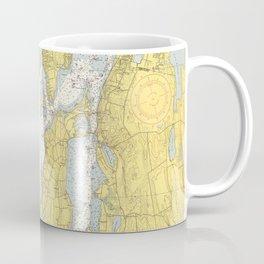 Vintage Map of The Narragansett Bay (1852) Coffee Mug