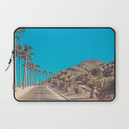 Andalusia street with palm trees at sunset. Retro toned Laptop Sleeve