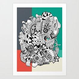Orden inverso Art Print