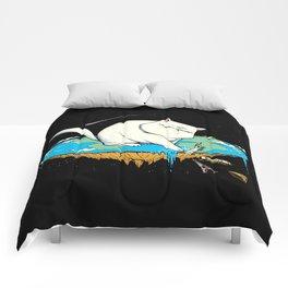 Flat Earth Cat Comforters