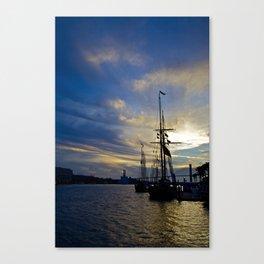 Savannah Ga Tallships on the Savannah River Canvas Print