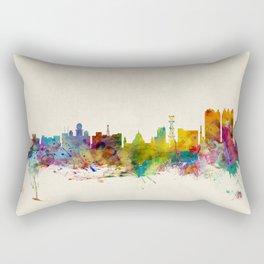 Calcutta (Kolkata) India Skyline Rectangular Pillow