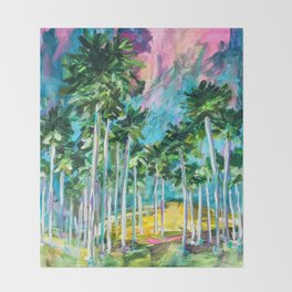 Field of Palms Throw Blanket