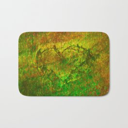 The Heart - Painting by Brian Vegas Bath Mat