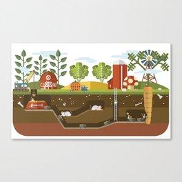 Big Garden, Little People Canvas Print