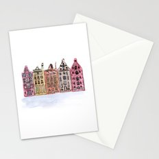 Coloured Houses Stationery Cards
