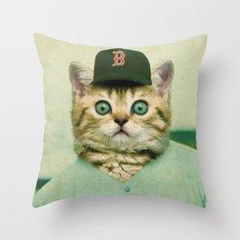 Baseball Kitten #3 Throw Pillow