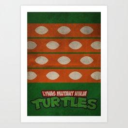 LYNAS Mutant Ninja Turtles: Michelangelo Art Print