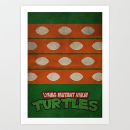 LYNAS Mutant Ninja Turtles: Michelangelo Art Print