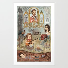 Kings Of Leon - Back Down South Art Print