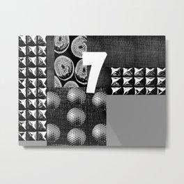 GREY #THE 7 Metal Print