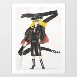 Zorro Brit Art Print