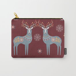 Nordic Winter Red Carry-All Pouch