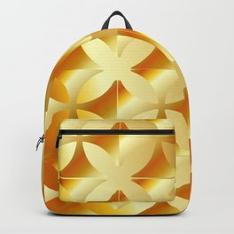 Texture with gold flowers Backpack