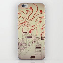 Burning city iPhone Skin