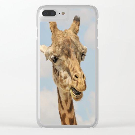 Giraffe Joe Clear iPhone Case