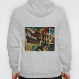 Classical Masterpiece 'Instruments of Power - Train, Airplane, Steam by Thomas Hart Benton Hoody