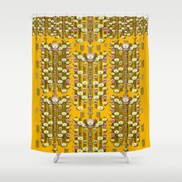 Rain showers in the rain forest of bloom and decorative liana Shower Curtain