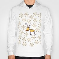 reindeer Hoodies featuring Reindeer by Mr & Mrs Quirynen