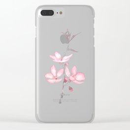 pink cherry blossom macro 2018 Clear iPhone Case