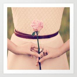 Hold Me A Rose Art Print