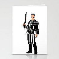terminator Stationery Cards featuring The Terminator by Ayse Deniz