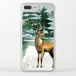 Winter Forest 2 Clear iPhone Case