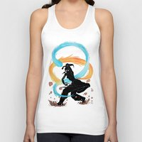 the legend of korra Tank Tops featuring The Legend of Korra Stencil by Brietron Art
