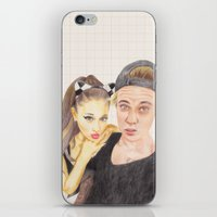 ariana grande iPhone & iPod Skins featuring Ariana and Justin by Share_Shop