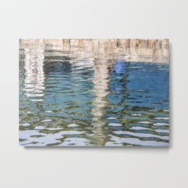 Reflecting Blues Metal Print