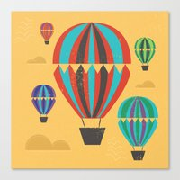 hot air balloons Canvas Prints featuring Hot Air Balloons by Marina Design