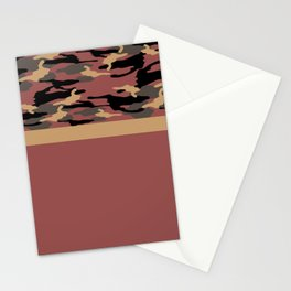 Marsala and Camo 2  Stationery Cards