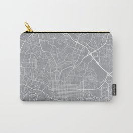 Raleigh Map, North Carolina USA - Pewter Carry-All Pouch