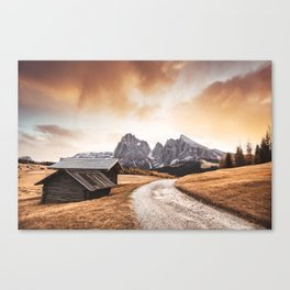 seiser alm in south tyrol Canvas Print