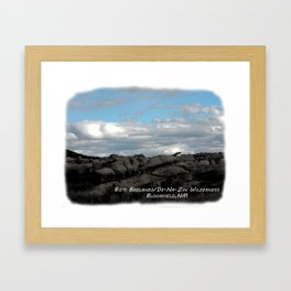 Bisti Badlands, De-Na-Zin Wilderness Framed Art Print